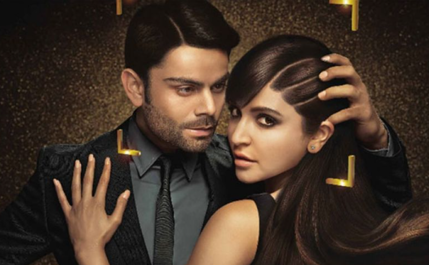 Virat Kohli and Anushka Sharma in an advertisement