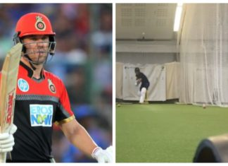 Ab De Villiers smashed a iphone 11 during his practice in nets