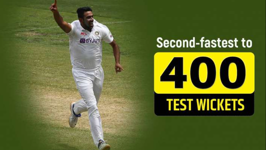 Ashwin reached the 400 wickets club in the 3rd Test match of India vs England Test series