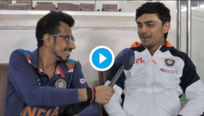 Ishan Kishan had a short post match interview with chahal