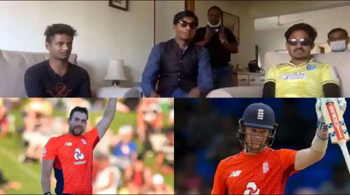Dawid Malan and Sam Billings had a conversation with blind cricketers