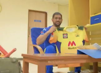 Dhoni introduced new jersey for CSK ahead of IPL 2021