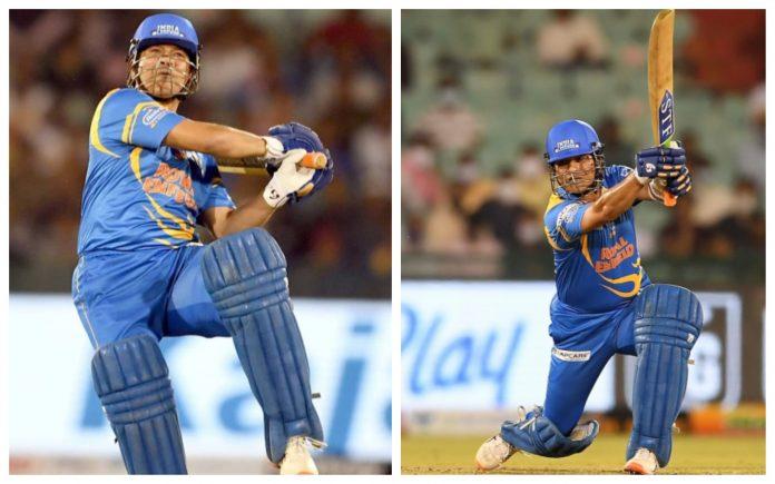 Sachin Tendulkar knocks 65 runs off 42 deliveries in the semifinals against West Indies team