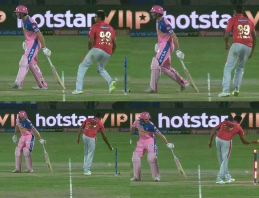 Ashwin dismissed Jos Buttler in a run out popularly called 'Mankading'