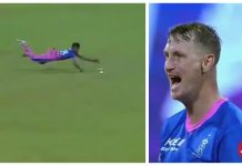 Chris Morris rebukes Chetan Sakariya for his lazy fielding effort against Chennai Super Kings