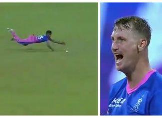Chris Morris rebukes Chetan Sakariya for his lazy fielding effort against Chennai Super Kings
