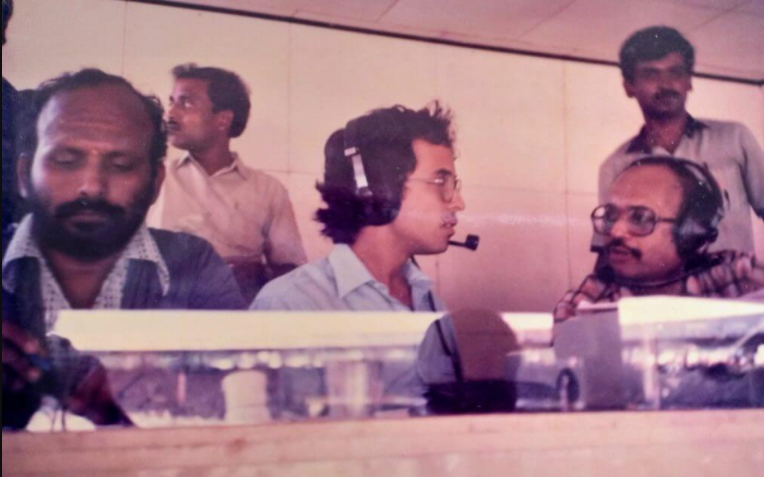 Harsha Bhogle - During his early days as Commentator