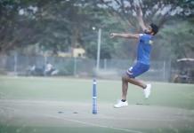 Bumrah training at Mumbai Indians Training camp for IPL 2021