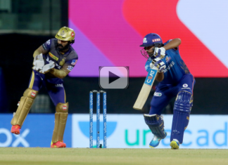 Mumbai Indians registered their maiden victory of IPL 2021 by beating KKR by 10 runs