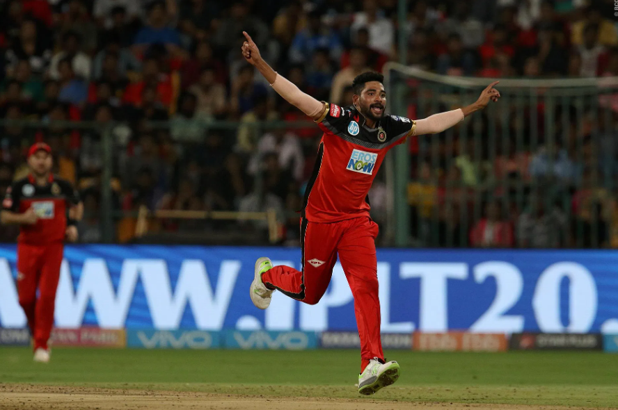 Mohammed Siraj was bought by the Royal Challengers Bangalore in the 2018 IPL auction.