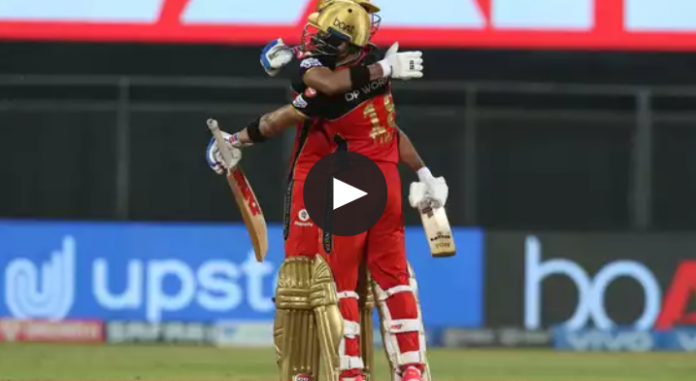 RCB won the game by beating RR by 10 wickets