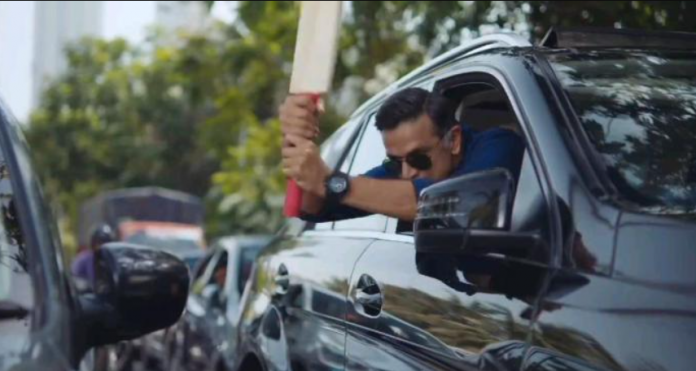 Rahul Dravid features in an aggressive advertisement