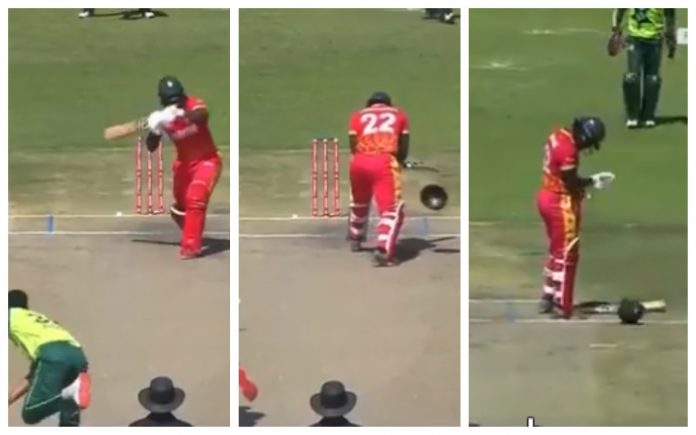 Pakistan bowler breaks Tinashe Kamunhukamwe's helmet