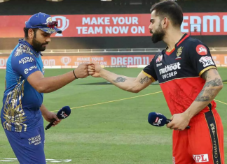 RCB win their first their match of the IPL 2021 season by beating MI by 2 runs.
