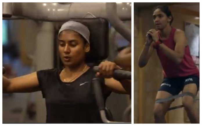 Indian women cricketers starts to workout in their quarantine period ahead of the England tour
