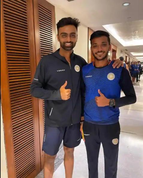 Jaydev Unadkat with Chetan Sakariya