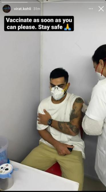 Virat Kohli got his First dose of COVID19 Vaccine