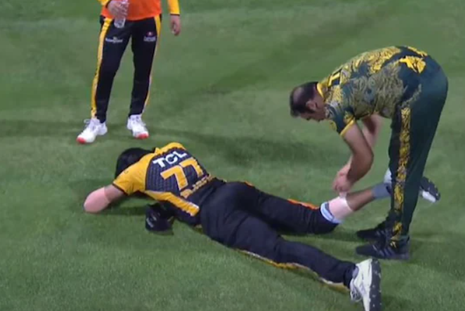 Mohammad Irfan picked up an injury while chasing a ball in the outfield
