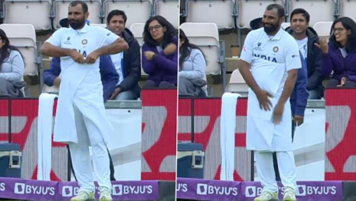 Mohammed Shami spotted wearing a towel in WTC 2021 finals
