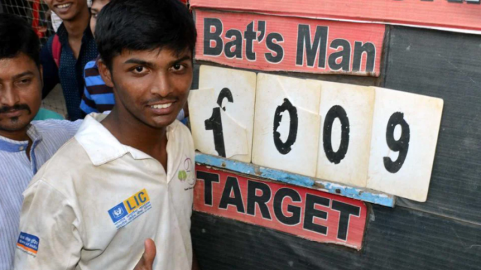 Pranav Dhanawade scored 1009 at the age of 15 in 2015