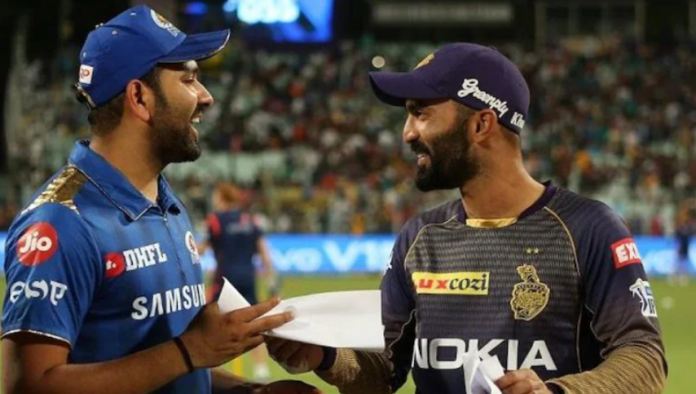 Rohit Sharma used DK's bat to score his maiden international half century