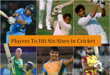 Players to hit Six Sixes Cricket