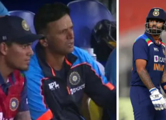 Rahul Dravid Upset after Suryakumar Yadav Throws his Wicket in the First T20I