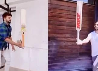 Raina and Virat complets Bat Balance challenge