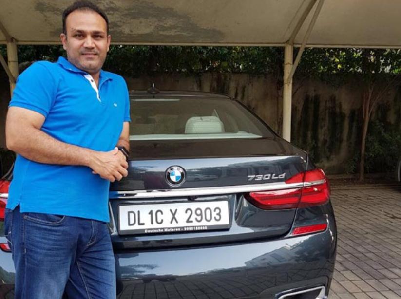 Sehwag owns a BMW car