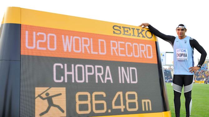Neeraj Chopra U20 Record