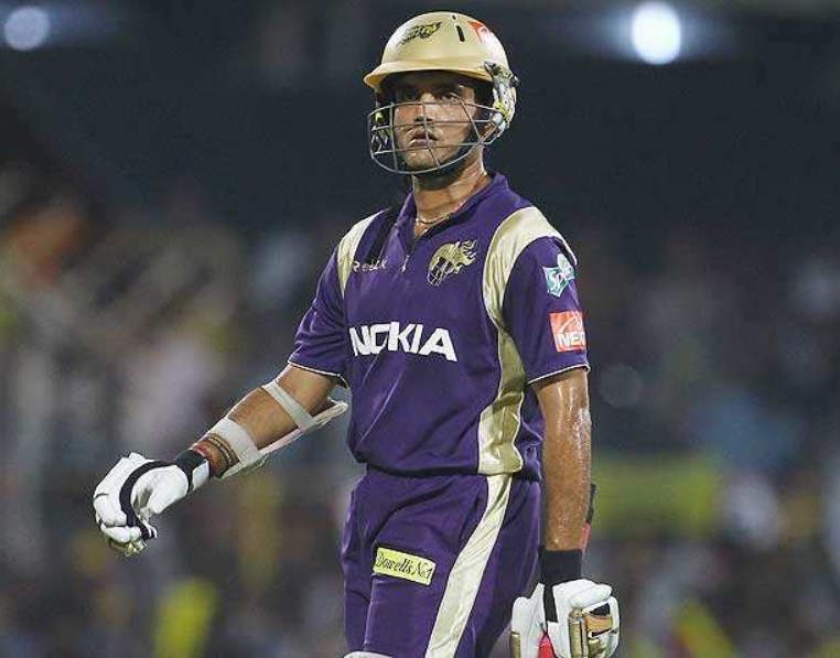 Ganguly was removed from the captaincy of the KKR for the 2009 season
