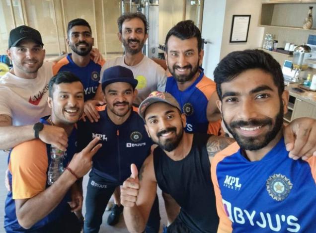 KS Bharat with team India