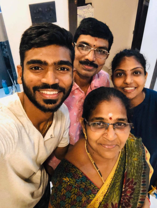 KS Bharat with his family