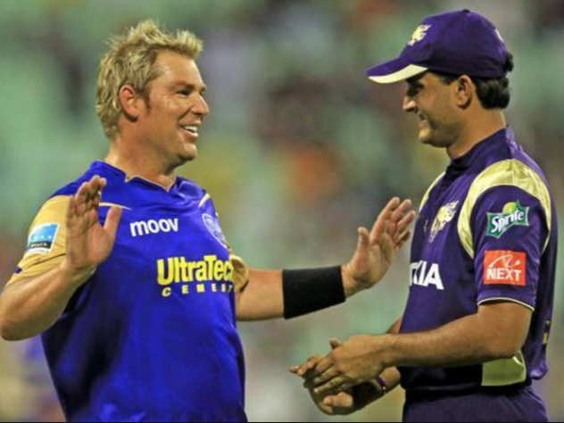 Ganguly late for the toss in KKR vs RR match in IPL 2008