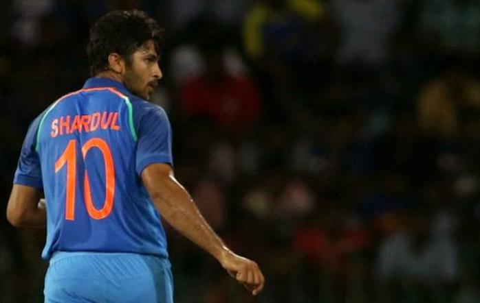 Shardul Thakur wearing Indian Jersey No 10