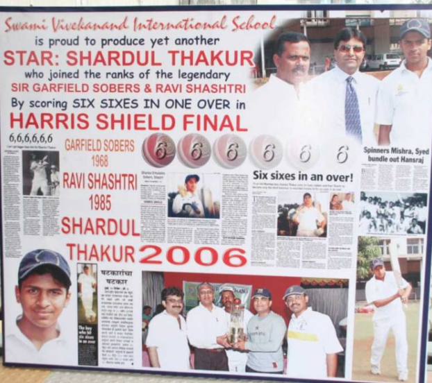 Shardul Thakur hits six 6 in plate division Harris Shield