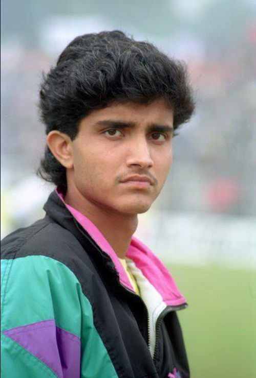 Young Sourav Ganguly