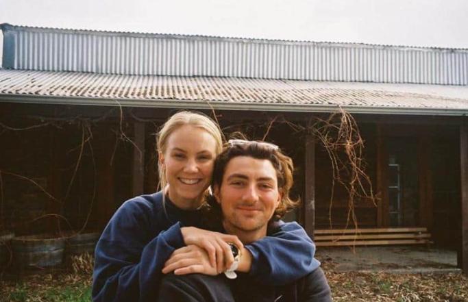 Tim David with his Girlfriend Stephanie Kershaw