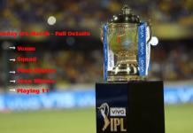 Today IPL Match