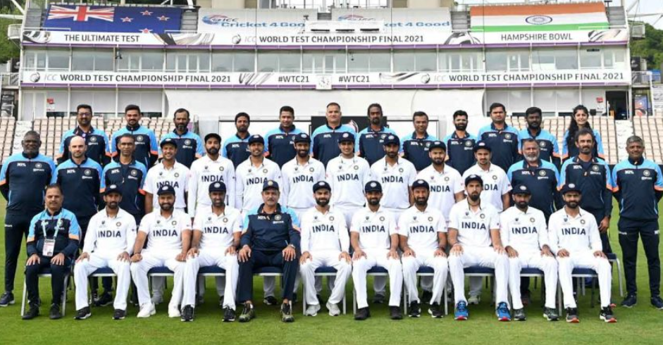India Team with support staffs