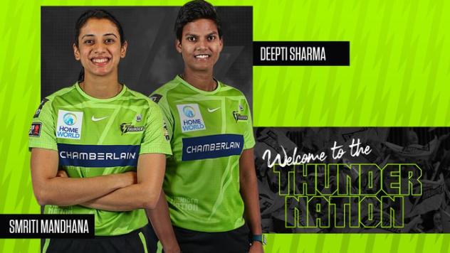 Sydney Thunder signs Smriti Mandhana and Deepti Sharma for WBBL07