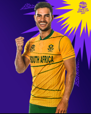 South Africa T20 WC 2021 yellow jersey