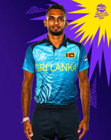 Sri Lanka T20 WC 2021 blue jersey