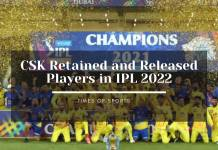 csk retained and released players in IPL 2022 Mega Auction